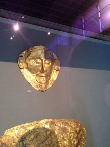 The golden mask of Agamemnon, one of the treasures that makes this museum so important.