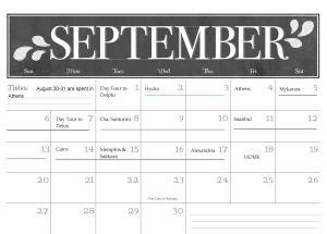 Trip 2015 Calendar