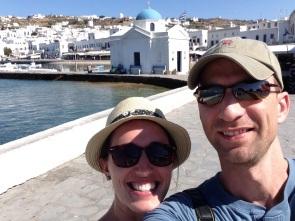 Mykonos town harbor