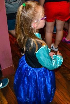 Little girl in Anna dress